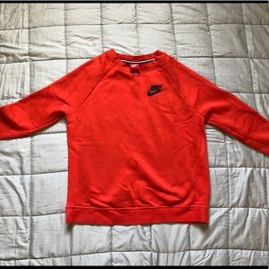 Orange Nike crew neck sweatshirt